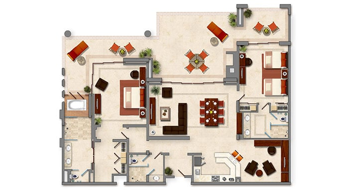 Two Bedroom Penthouse Gallery 5