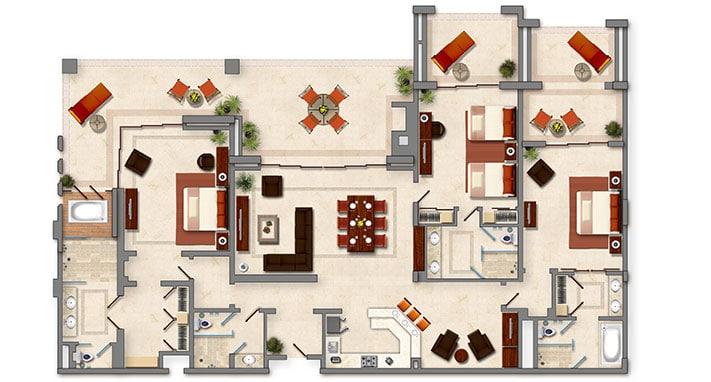 Three Bedroom Penthouse Gallery 6